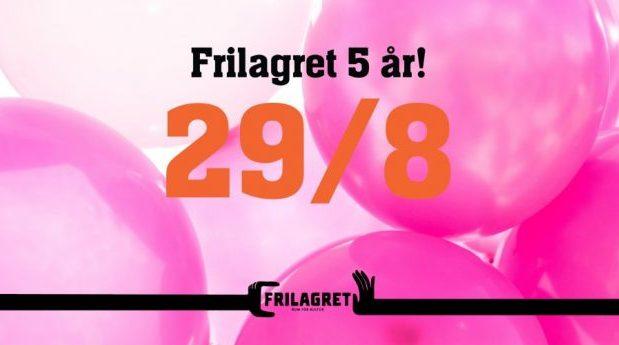 Frilagret 5 år!