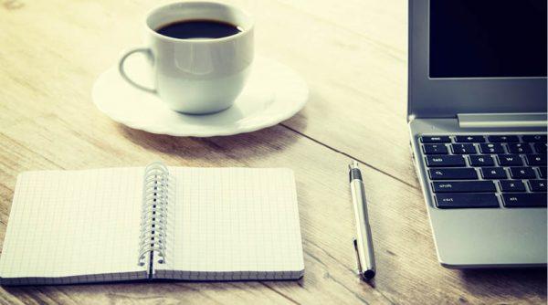 kaffekopp block penna dator