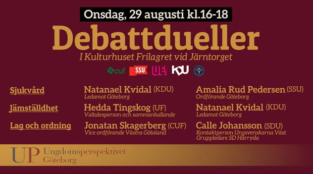 Debatt: Jämställdhet, lag och ordning samt sjukvård