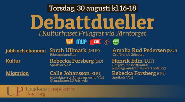 Debatt: Migration, Jobb/ekonomi samt kultur