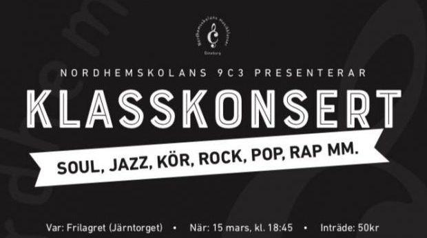 Nordehemsskolan 9c3s klasskonsert!