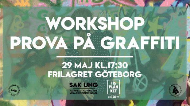 FULLBOKAT! Friplanket: Testa att måla graffiti!
