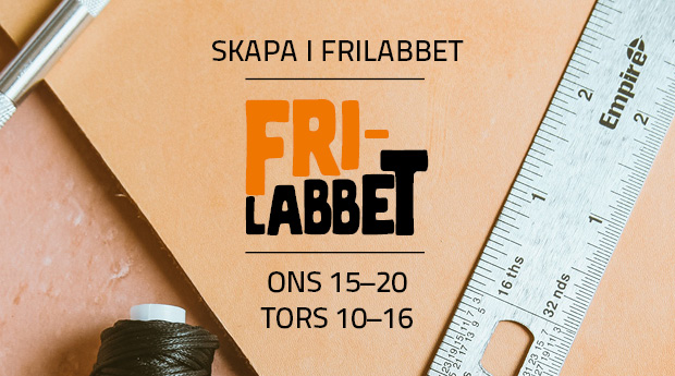 Skapa i Frilabbet & workshop onsdagar 18–20!