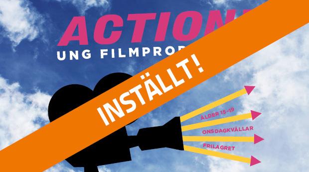 INSTÄLLT! Filmkurs för unga mellan 15–19 år!