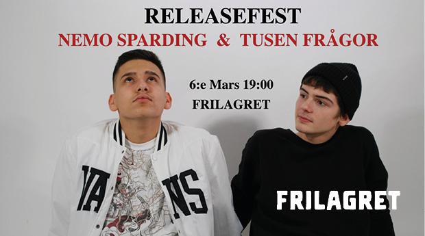 Releasefest: Nemo Sparding & Tusen Frågor