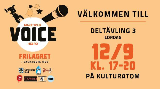 FULLT! VOICE Talangtävling på KulturAtom